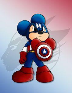 Mickey as Captain Mouse by Nanaki-angel23.deviantart.com on @deviantART