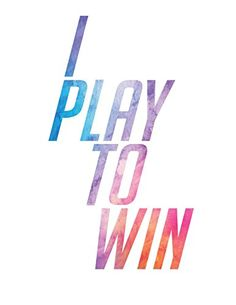 I Play To Win Watercolor Overwatch D.Va Home Print | 8 x 10 | Wall Decor Gamer