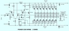 This is the circuit design of Mosfet power amplifier RMS, the schematic is for single channel. The circuit uses Speaker Amplifier, Class D Amplifier, Speakers, Dc Circuit, Circuit Diagram, Inverter Welder, Circuit Board Design, Power Supply Circuit, Speaker Plans