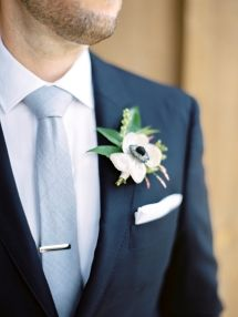 Whimsical Al Fresco Lake Tahoe Wedding at The Hideout Inn Boutonnieres + Corsages ❥ Inspiration for those special flowers for those special friends + family. Corsage And Boutonniere, Boutonnieres, Groomsmen Fashion, Groom And Groomsmen, Casual Wedding, Floral Wedding, Tuxedo Wedding, Blue Wedding, Party