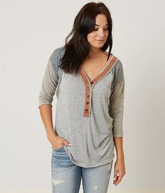 Gilded Intent Heathered Henley Top - Women's Shirts/Blouses   Buckle