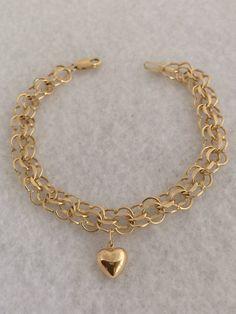 Stunning 14K 585 Fine Gold Triple Link Heart by TrendsCouture