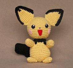 Pokemon Pichu Plush - Free Amgurumi Pattern http://wolfdreamer-oth.blogspot.com/2009/05/pichu-plush.html