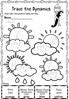 This set contains 20 Autumn themed trace and color music worksheets in two different formats pages in total). First kids trace music symbols, notes, rest and dynamics, then they color the picture using the key. All activities require no preparation Music Games, Music Math, Music Writing, Music Activities, Music Classroom, Kids Writing, Music Lesson Plans, Music Lessons, Music Theory Worksheets