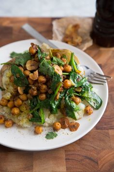 Recipe: Curried Chickpea & Spinach Baked Potato