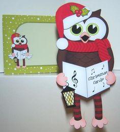 Card Gallery - 3D On the Shelf Card Kit - Christmas Carol Singing Hoot Owl