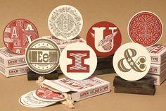 Love that ampersand.... - Letterpress coasters