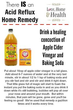 An Acid Reflux Home Remedy that Works! Learn what potatoes, baking soda and apple cider vinegar can do to relieve your Acid Reflux and Heartburn Symptoms!