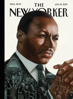 """The New Yorker - Monday, January 16, 2017 - Issue # 4671 - Vol. 92 - N° 45 - Cover """"After Dr. King"""" by Kadir Nelson"""