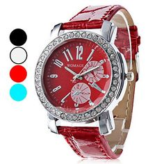 Frauen Casual Style PU Analog Quarz-Armbanduhr (verschiedene Farben) , Schwarz - http://uhr.haus/watch-2485/frauen-casual-style-pu-analog-quarz-armbanduhr-2