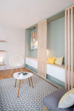25 Simple Interior Design Ideas for Small Apartment Ideas - Living Room Interior, Home Interior, Interior Architecture, Interior Decorating, Interior Design, Interior Simple, Home And Deco, Small Apartments, Custom Furniture
