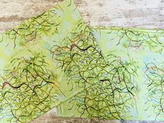 Green Placemats, Fabric Placemats, Placemat Sets, Fabric Cards, Wedding Shower Gifts, Abstract Nature, Willow Tree, Nature Prints, Spring Green