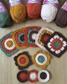 Ideas for crochet mandala afghan link Mandala Au Crochet, Crochet Diy, Crochet Quilt, Crochet Blocks, Crochet Pillow, Crochet Squares, Crochet Motif, Crochet Crafts, Yarn Crafts