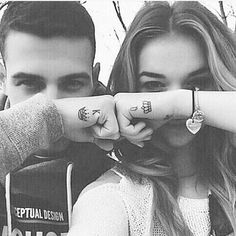 2017 trend Couple Tattoo - The perfect King and Queen couple tattoo :3...
