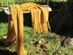 Sun Gold Yellow Burnt Orange Mens or Womens Scarf by aclhandweaver, $168.00 this is so beautiful!