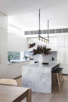 Kitchen Design Gallery, Interior Design Kitchen, Stone Interior, Beach House Kitchens, Cool Kitchens, Home Decor Kitchen, New Kitchen, Kitchen Ideas, Latest Kitchen Designs