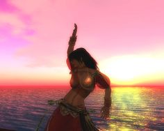 Dancer in the Sunset