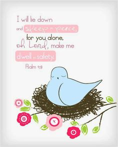 *Psalms 4:8 Bible verse quote