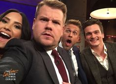 April 5, 2017 | Late Late Show with James Corden #DemiLovato #CharlieHunnam #RupertFriend