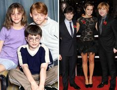 Harry Potter then and now