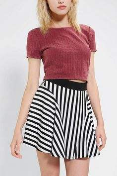 Silence & Noise Heartbeat Cropped Top #urbanoutfitters