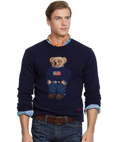 02ee9e6a5 Polo Ralph Lauren Polo Bear Sweater - Sweaters - model  broderick ...