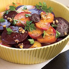 roasted beet salad recipe...guess who's beets just came out of the garden, all fresh and delicious.