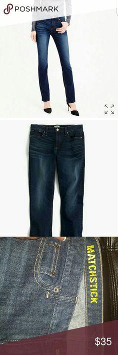 J.Crew Stretch Matchstick Jeans Dark Blue 29R J. Crew Jeans Straight Leg