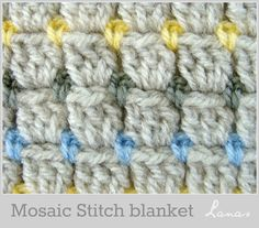 """(Crochet)   Made by Beatriz           My mom made this blanket with the special crochet stitch known as """"mosaic or brick"""".   Mi mamá teji..."""