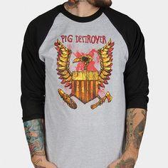 Pig-Destroyer-Eagle-Baseball-Raglan-Shirt-SM-MD-LG-XL-XXL-New