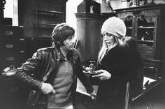 Roman Polanski and Sharon Tate, during shopping trip on King's Road, London, 1968.