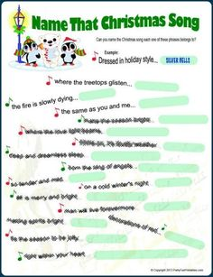 christmas song game more - Christmas Party Games For Large Groups