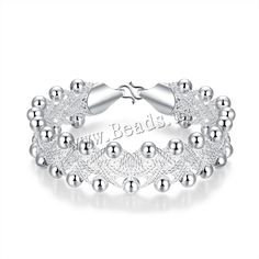 comeon® Jewelry Bracelet, Brass, real silver plated, nickel, lead & cadmium free, 16mm - beads.us