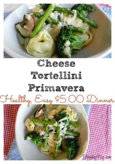 Cheese Tortellini Primavera is one of the dinners we love to have during the summer or on a day when we just don't feel like going meatless. Not only is it easy to make, but it is healthy! I love feeding my family an affordable, great tasting, healthy meal.