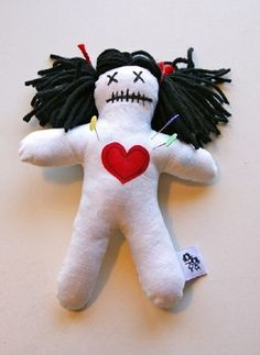 For those of you on the other end of the spectrum....Anti-Valentine's Day Voodoo Doll $10