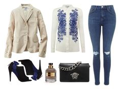 """""""Freestyle"""" by nicolesynth ❤ liked on Polyvore featuring Topshop, Versace, Miu Miu, Uniqlo, Hobbs and Valentino"""