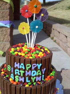 The coolest candy birthday cake:)