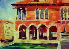 """Becky Rowe Fine Art – """"Painting the world through a colorful lens, always searching for beauty and composition"""" Venice, Searching, Composition, Lens, My Arts, Colorful, Oil, Fine Art, Gallery"""