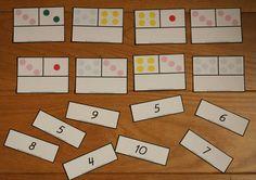 Min blogg om allt mellan himmel och jord: Montessorimaterial: Addition med summa 1-10