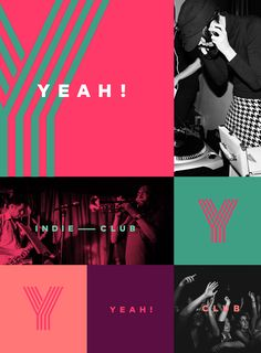 YEAH! Indie Club Identity on Behance