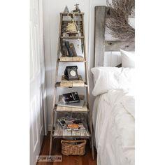 Lovely Ladder Storage Ideas & DIY's - The Cottage Market