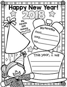 new years 2018 Just a little freebie set of boy and girl posters for the new year! Take a snapshot of a moment in time and have students fill in their favorites and plans for the new year. Enjoy and have a Happy New Year! :) This fits in perfectly with my year-long scrapbook.