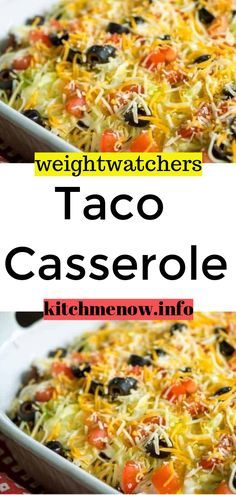 Ingredients: 1 lb ground skinless chicken breast 1/2 c onions, chopped 1/2 c bell peppers, chopped 1 clove garlic 1 pkg taco seasoning mix 8 ozs taco sauce 1 c fat-free sour cream 1 c fat-free cottage cheese 1 c low-fat tortilla chips, whole or broken up 1 c low-fat cheddar cheese, shredded 3/4 c salsa #weightwatchers #recipes #yummy #skinny #smartpoints #taco #casserole