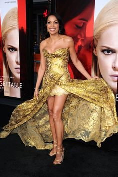 Rosario Dawson LOVES Her Dress at the Unforgettable Los Angeles Premiere