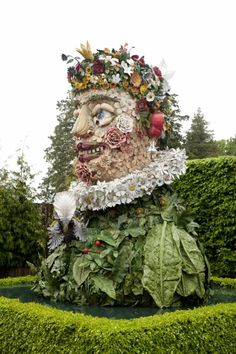 Philip Haas. Inspired by Giuseppe Arcimboldo's 'Four Seasons' portraits. At NY Botanical Garden.