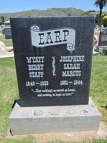 Wyatt Earp's grave marker.
