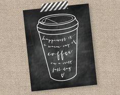 Chalkboard Fall Coffee Printable