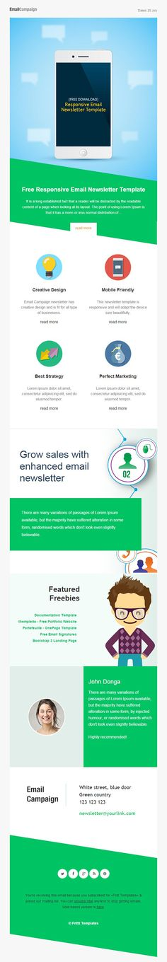 Free Email Templates By Activecampaign  Email Template