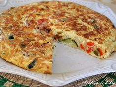 Receta Plato : Tortilla campesina con verdura por Azafrandehebra