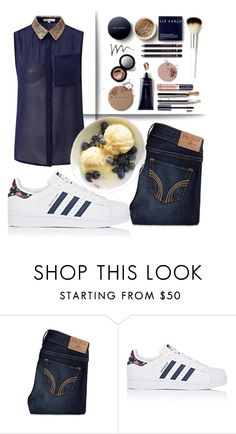 """""""Featuring my fave snack"""" by voluptuoustwiggy ❤ liked on Polyvore featuring Hollister Co., adidas and Glamorous"""